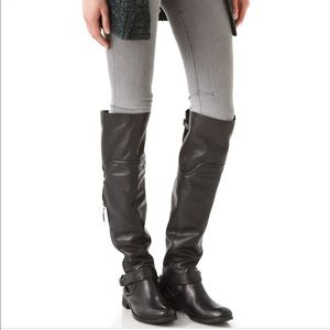 Luxury Rebel Black Lynn Over The Knee Riding Boot